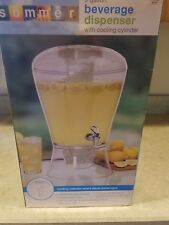 3 Gallon Ice Core Dispenser Stand Drinks Lemonade Party Drink Beverage Picnics