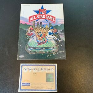 """Pete Rose """"Hit King 17 X AS"""" Signed Inscribed 1985 All Star Game Program Steiner"""