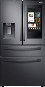 Samsung 28cu 4-Door French Door Refrigerator Tablet Family Hub RF28R7551SG