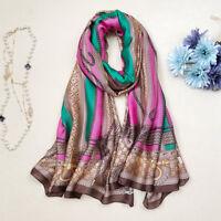 2018 luxury brand Women 100% Silk scarf Beach Shawl and Echarpe Hijab Wrap