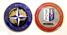 Military Challenge Coin KFOR Kosovo Force Macedonia NATO Consistent Effort