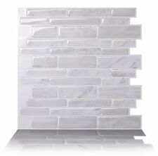 Tic Tac Tiles_3D Peel and Stick Wall Tile_Polito White(30cm x 30cm x 5 sheets)