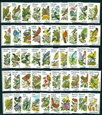 US USA 1982 #1953-2002 Complete set singles 50 State Birds & Flowers Mint NH