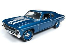 2018 NEW 1:18 AUTO WORLD AMERICAN MUSCLE *BLUE* YENKO 1969 Chevrolet NOVA *NIB*