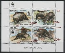 Mozambique 2019 WWF Faune Fauna Loutre otter Error Displaced Overprint RARE