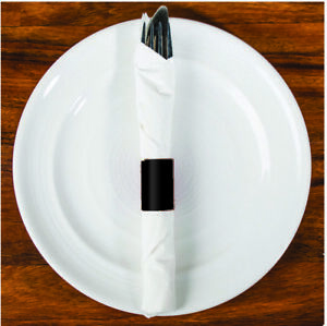 6 x 1.5 Black Napkin Bands (500) Self Adhesive Ships Free ($0.023/pc)