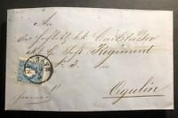 1859 Neusatz Austria Letter cover To Ogulin Wax Seal