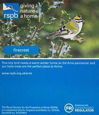 RSPB Pin Badge   Firecrest   Arne reserve [01324]