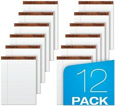 12 Ct Writing Pads Legal Ruled 8.5 x 11.75 White Lined 50 Sheets per Notepad