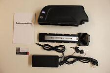 36V 17Ah Akku 18650 Panasonic NCR Zellen + Ladegerät + BMS mit USB Rahmenakku