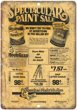 """Benjamin Moore Harrison Paint Co Ad 10"""" X 7"""" Reproduction Metal Sign Z83"""
