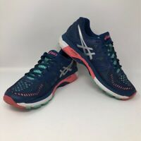 Asics Womens GeL Kayano 23 Running Shoes Blue T696N Low Top Lace Up 9 M