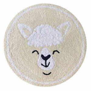 Myrtle Lamb Lemon Fantasy Fun Cotton Round Kids Floor Rug - 80x80cm