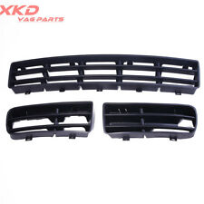 3 Pieces Front Lower Bumper Grill Kit For Volkswagen Golf 1999-2007