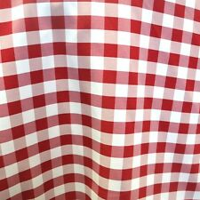 """10 Yards Checkered Fabric 60"""" Wide Gingham Buffalo Check woven 1'' squar  Red"""