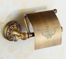 Bathroom Antique Brass Wall Mounted Toilet Paper Holder Tissue Roll Rack sba487