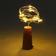 BOTTLE TOP STRING LIGHTS Warm White LED Fairy Wine Cork Shaped Stopper Battery