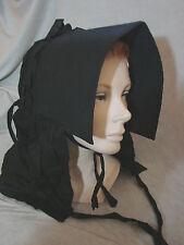 Vintage Victorian Bonnet Hat Amish VGC Black Brim Antique Visor Brim