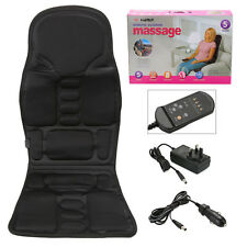 Shiatsu Full Back Massage Cushion Car Chair Seat Pad Mat Massager Neck Heat UK