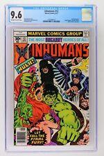 "Inhumans #12 - Marvel 1977 CGC 9.6 Hulk Appearance. ""Allen Milgrom"" printed in H"