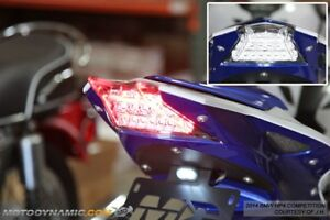 fit 2015-2019 BMW S1000R S1000RR SEQUENTIAL Signal LED Tail Light CLEAR LENS