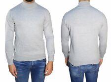 Herren Stehkragen Pullover Gr.5XL Grau