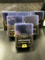 Lot of 150 Cardboard Gold Top Loads 3x4 plastic TOPLOADERS 6 Packs X 25 CT CBG