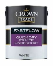 Crown Trade FastFlow Quick Drying Water Based Primer Undercoat White 2.5ltr