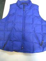 Nylon Down Puffer Vest Royal Blue 14/16 feather mix New Venezia Jeans Co