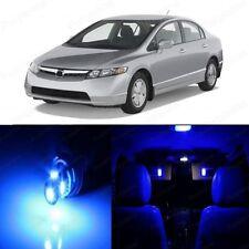 8 x Ultra Blue LED Lights Interior For Honda CIVIC 2006 - 2012 Coupe Sedan