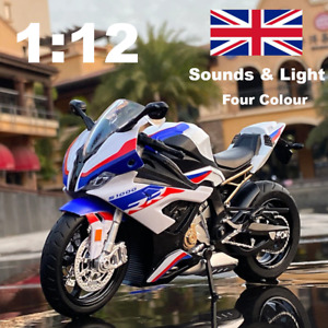 1:12 Bmw S1000Rr Racing Motorcycles Car Model Diecast Toy Vehicle Sound&light
