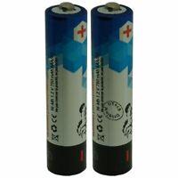 Pack de 2 batteries Téléphone sans fil pour PHILIPS CD445 - capacité: 750 mAh