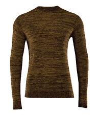 Alcott & Co Premium Men's Size Large Ochre Melange Jumper Pullover