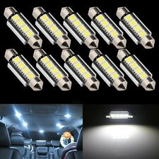 10X 5050 4 SMD 39mm White CANBUS LED License Plate Dome Light Bulb Error Free