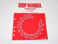 Honda G100 Gas Engine Motor Work Shop Dealer Owner Manual Service Repair Book