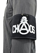 BLACK SCREEN PRINTED CHAOS SKULL PUNK ROCKER ARMBAND VINTAGE SEDITIONARIES 1977