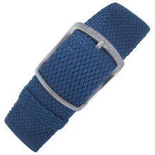 18mm EULIT Kristall Blue Tropic Woven Nylon Perlon German Made Watch Band Strap