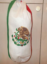 """Mexico Flag Fabric Cloth Garbage Bag Holder Shopping Plastic Approx 19""""x 19"""