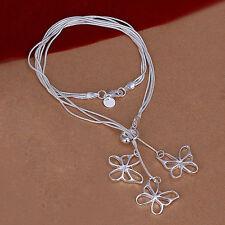 Collana donna Gioielli farfalla 45cm collana pl. con Argento sterling