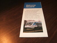 1993 AMTRAK X2000 DEMONSTRATION COLOR BROCHURE