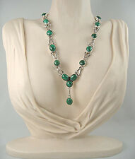 Malachite Necklace in Sterling Silver