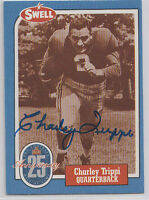 Charley Trippi QB HOF Hall of Fame Chicago Cardinals SIGNED CARD AUTOGRAPHED