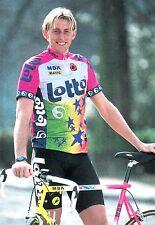 CYCLISME carte cycliste PATRICK DENEUT équipe LOTTO MBK mavic 1992