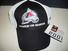 COLORADO AVALANCHE / BUD LIGHT 2001 STANLEY CUP CHAMPIONS HAT *NEW W/TAGS*