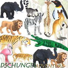 13 TIERE WILDLIFE SET | Tier- Figur Spielzeugtiere Safari Zoo Elefant Lemur ~vv