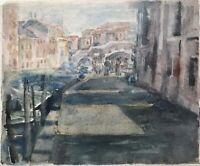 Edith Reichert 1924-2013 Venise Venezia Italie Canal Bateaux Ponte Tre Archi