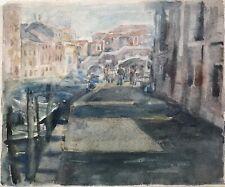 Edith Reichert 1924-2013 Venedig Venezia Italien Kanal Boote Ponte Tre Archi