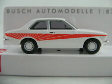 "Busch 42107 Opel Kadett C ""Swinger"" (1977) in polarweiß/orange 1:87/H0 NEU/OVP"