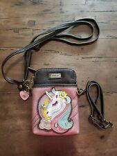 Chala Cell Phone Crossbody Bag, Unicorn, Glitter Pink