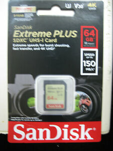 SanDisk EXTREME PLUS 64GB SDXC UHS-1 Card SEALED/NEW